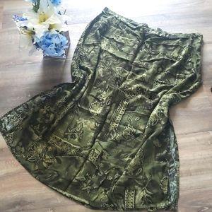 Kathie Lee Printed Skirt Plus Size